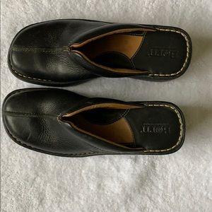 Born Black Clogs, slip in, size 7 us or 38